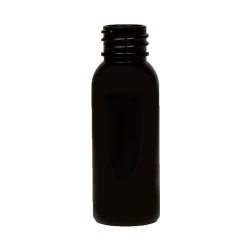 1 oz. Black PET Cosmo Round Bottle with 20/410 Neck (Cap Sold Separately)