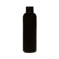 2 oz. Black PET Cosmo Round Bottle with 20/410 Neck (Cap Sold Separately)
