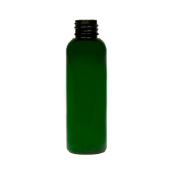 2 oz. Dark Green PET Cosmo Round Bottle with 20/410 Neck (Cap Sold Separately)