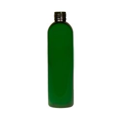 8 oz. Dark Green PET Cosmo Round Bottle with 24/410 Neck (Cap Sold Separately)
