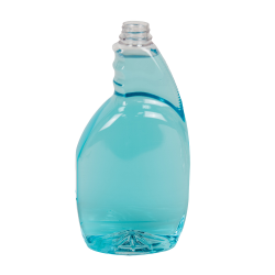 32 oz. Clear PET Oval Spray Bottle with 28/400 Neck (Sprayer Sold Separately)