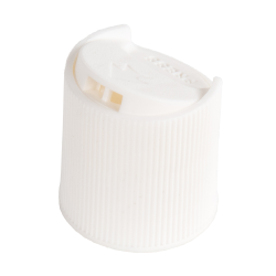 20/410 White Ribbed Disc Top Cap with .270