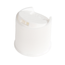 White Ribbed Disc Top Cap with 24/410 Neck