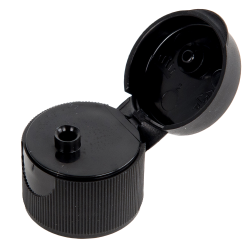 20/410 Black Ribbed Snap Top Cap with .125