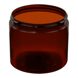 8 oz. Amber PET Straight Sided Jar with 70/400 Neck (Cap Sold Separately)