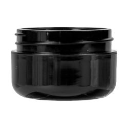 1/2 oz. Black Polypropylene Dome Double Wall Jar with 48/400 Neck (Cap Sold Separately)