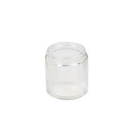 4 oz. Clear Glass Straight Sided Jar with 58/400 Neck  (Cap Sold Separately)