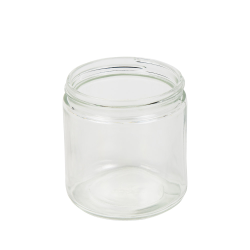 16 oz. Clear Glass Straight Sided Jar with 89/405 Neck  (Cap Sold Separately)