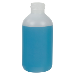 2 oz. HDPE Natural Boston Round Bottle with 20/410 Neck  (Cap Sold Separately)