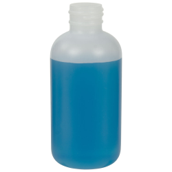 4 oz. HDPE Natural Boston Round Bottle with 24/410 Neck  (Cap Sold Separately)
