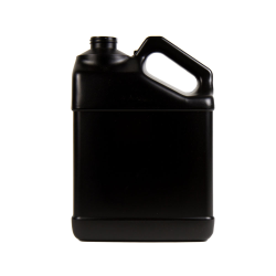 128 oz. Black HDPE F-Style Jug with 38/400 Neck  (Cap Sold Separately)
