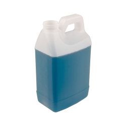 64 oz. Natural HDPE Graduated F-Style Jug with 38/400 Neck (Cap Sold Separately)