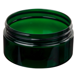 8 oz. Dark Green PET Straight Sided Jar with 89/400 Neck (Cap Sold Separately)