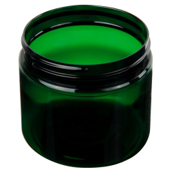 16 oz. Dark Green PET Straight Sided Jar with 89/400 Neck (Cap Sold Separately)