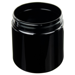 16 oz. Black PET Straight Sided Jar with 89/400 Neck (Cap Sold Separately)