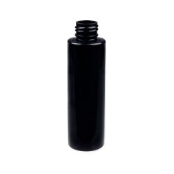 4 oz. Black PET Cylinder Bottle with 24/410 Neck  (Cap Sold Separately)