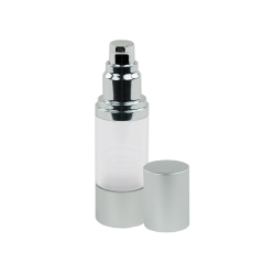 30mL Clear/Brushed Aluminum Airless Bottle with Pump