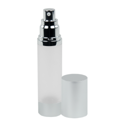 50mL Frosted/Brushed Aluminum Airless Bottle with Pump