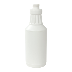 32 oz. White HPDE Fluted Carafe with 28/410 Neck (Sprayer or Cap Sold Separately)
