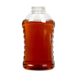 24 oz. (Honey Weight) Ribbed Hourglass Bottle with 38/400 Neck (Cap Sold Separately)