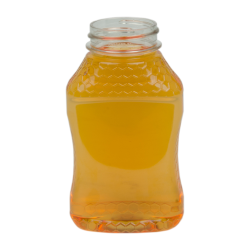 8 oz. (Honey Weight) PET Hourglass Grip Bottle with 38/400 Neck (Caps sold separately)