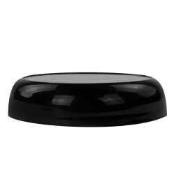 70/400 Polypropylene Black Stackable Domed Cap