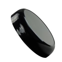 70/400 Polypropylene Black Stackable Domed Cap