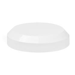 70/400 White Polypropylene Beveled Unlined Cap
