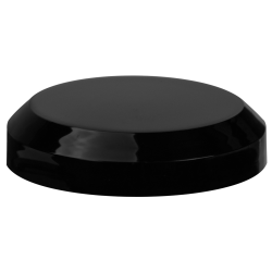 70/400 Black Polypropylene Beveled Unlined Cap
