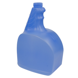 32 oz. Blue HDPE Fabric Bottle 28/400 Neck  (Sprayer or Cap Sold Separately)