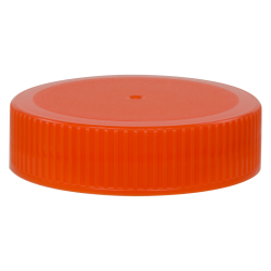 63/400 Orange Polypropylene Unlined Ribbed Cap