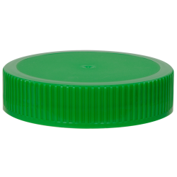70/400 Green Polypropylene Unlined Ribbed Cap