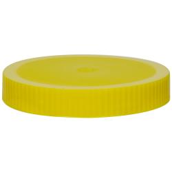 89/400 Yellow Polypropylene Unlined Ribbed Cap