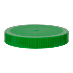 89/400 Green Polypropylene Unlined Ribbed Cap