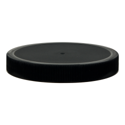 100/400 Black Polyethylene Unlined Ribbed Cap