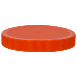 100/400 Orange Polyethylene Unlined Ribbed Cap
