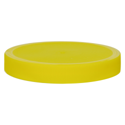 100/400 Yellow Polyethylene Unlined Ribbed Cap