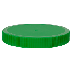 100/400 Green Polyethylene Unlined Ribbed Cap
