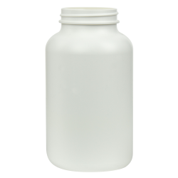 500cc/16.9 oz. HDPE Pharma Packer with 53/400 Neck (Cap Sold Separately)