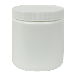 19 oz. White Straight Sided Jar with 89/400 Cap