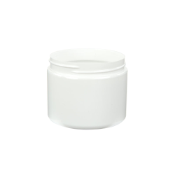 6 oz. White PET Straight Sided Jar with 70/400 Neck (Cap Sold Separately)