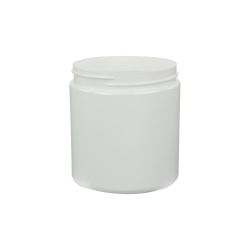 8 oz. White PET Straight Sided Jar with 70/400 Neck (Cap Sold Separately)
