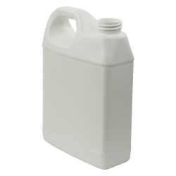 32 oz. White Fluorinated HDPE F-Style Jug with 33/400 Neck (Cap Sold Separately)