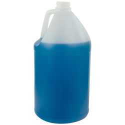 128 oz. Natural Fluorinated Round Jug with 38/400 Neck (Caps sold separately)