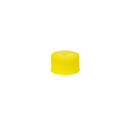 18/400 Yellow Polypropylene Unlined Ribbed Cap