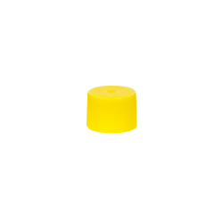 18/410 Yellow Polypropylene Unlined Ribbed Cap