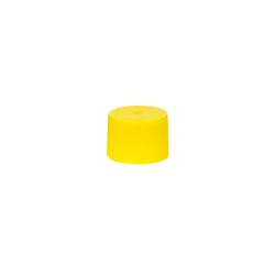18/410 Yellow Polypropylene Unlined Ribbed Cap
