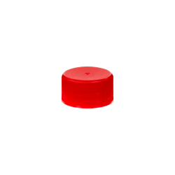 24/414 Red Polypropylene Unlined Ribbed Cap