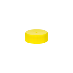 28/400 Yellow Polypropylene Unlined Ribbed Cap