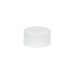 24/414 White Polypropylene Unlined Ribbed Cap
